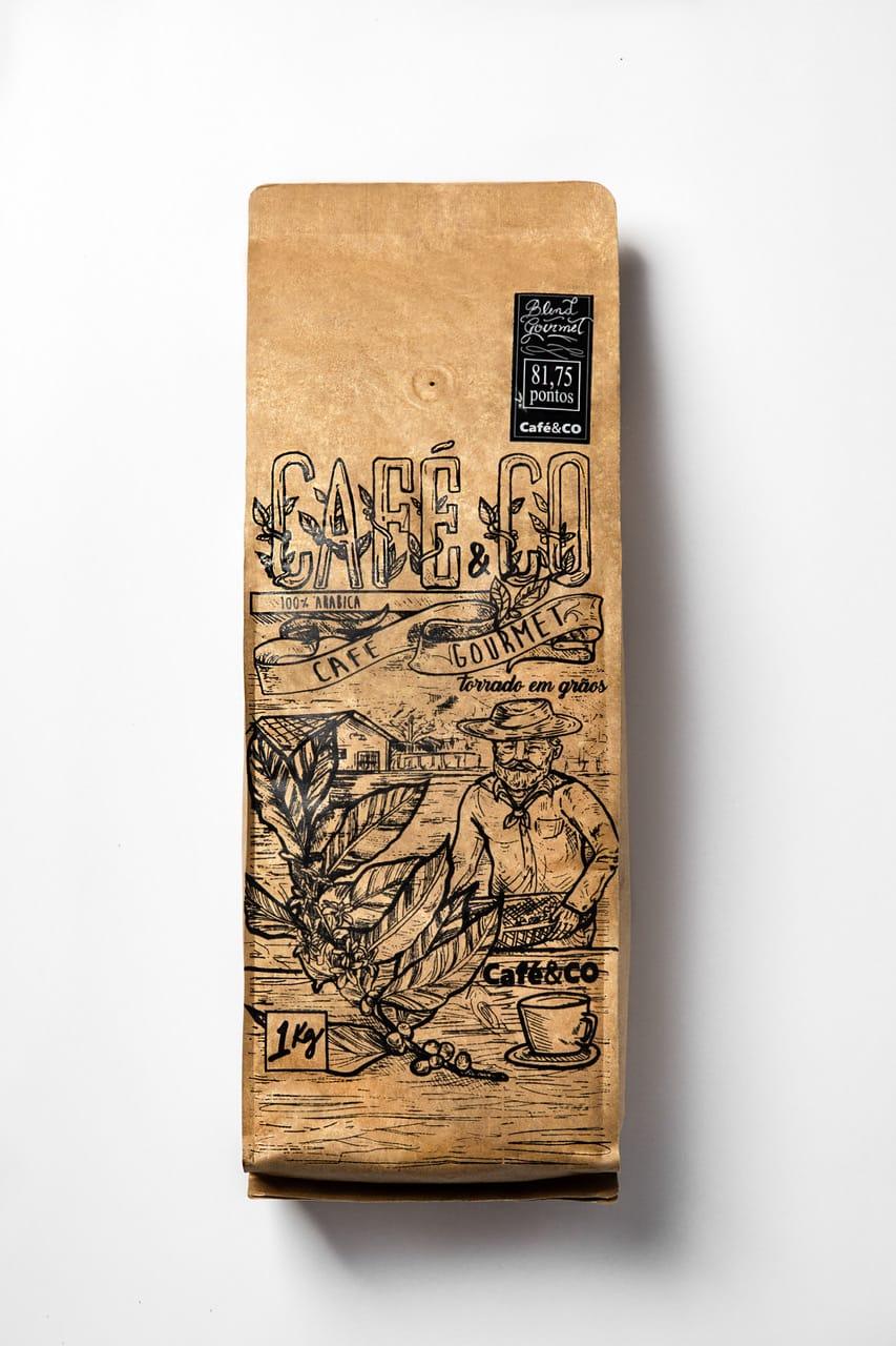 Café&CO Especial 83 pts Mundo Novo Natural Mogiana - 1kg em grãos