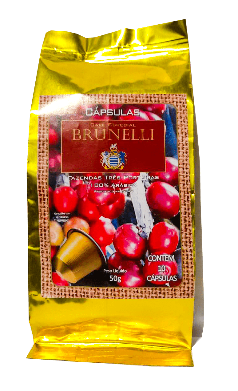 Café Especial Brunelli 87pts - Sul de Minas - Em Cápsulas pct com 10 un