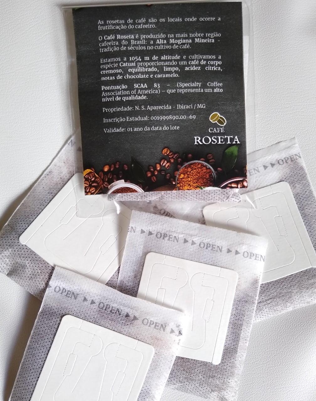 Drip Coffee Café Roseta Especial - 83 pts Alta Mogiana - cx 10 un