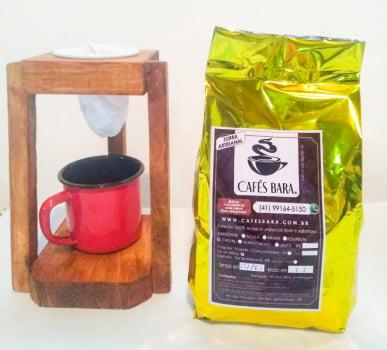 Kit Coador Mariquinha + Cafés Bara Especial 84pts - Torra Artesanal - IPR107 CD - 250g Moído-Em Grãos