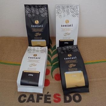 Kit Tostati - Café Especial 86pts Catuaí Amarelo Fermentado - Café Gourmet Mundo Novo Natural - 1kg